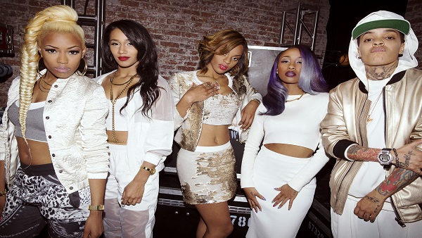 SISTERHOOD OF HIP HOP -- Season: 1 -- Pictured: (l-r) Nyemiah, Bia, Brianna, Diamond, Siya -- (Photo by: Jason Nocito/Oxygen)